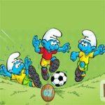 لعبة كرة القدم السنافر