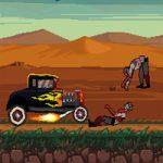 لعبة سيارات دهس الزومبي